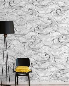 Ride the wave with @wallpepper_milan! Young and dynamic this brand is specialized in the creation of very expressive wallpapers where lines geometries and colours are able to create infinite worlds and figures. Discover here WAVES wallpaper. #archiproducts #wallpepper