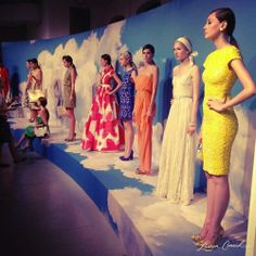 """Oh, who's that striking girl in peach at the Alice + Olivia presentation? """"She's my sister!"""" via @Lauren Conrad #NYFW"""
