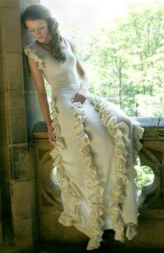 Truffle knitted wedding dress