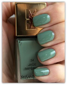 YSL Nail Polish 34 Jade Imperial.. Wonder how this will look against dark skin...