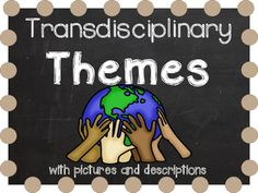 """IB Transdisciplinary Themes with pictures descriptions from """"Making the PYP Happen"""".  This is part of a larger bundle at The Big IB Bundle. See preview for all pages included.  IB Attitude words with kid friendly descriptions and pictures  and IB Learner Profile words with pictures and kid friendly descriptions are also available at my TPT store."""
