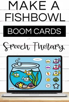 "Motivate your students to engage in drill work during speech therapy sessions with this hands on ""build a fishbowl activity"". Practice speech sounds while moving fish, shells and stars to the fishbowl. This boom card deck contains vocalic r, blends and most sounds in all postions. Use this resource with your preschool, kindergarten and elementary students during distance learning and teletherapy. Also great for your speech room. Add this to your ocean themed speech therapy resources."