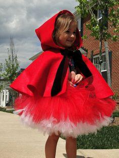 little red riding hood :) -  carnaval#kostuum#halloween#costume check www.mamaweetjes.nl voor meer carnaval outfits voor kinderen!