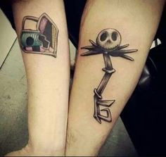His and her jack and sally tattoo