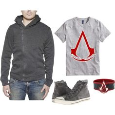 Gamer Outfit by geekhoodies on Polyvore featuring H&M and Converse