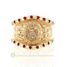 one day.... Aggie Ring wrap with garnets