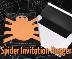 Halloween party invite hugger - TUTORIAL - PAPER CRAFTS, SCRAPBOOKING & ATCs (ARTIST TRADING CARDS)