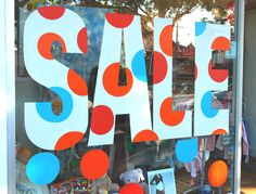 Sale graphics for window