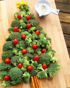 Christmas Tree Vegetable Platter with Dip: This Christmas Tree Vegetable Platter with Dip is a fun and festive appetizer or snack you can serve for your Christmas or Holiday gatherings. It's easy to put together and offers healthy snacking for your guests!