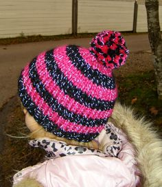 Knitted Hats, Crochet Hats, Winter Hats, Beanie, Knitting, Dressing, Children, Fashion, Knitting Hats