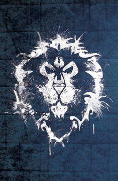 World of Warcraft Alliance Faction Icon Poster Word Of Warcraft, Warcraft 3, World Of Warcraft Wallpaper, Dark Tide, Game Icon, Wow Art, Starcraft, Game Art, Fantasy Art