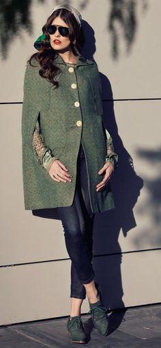 winter green cape