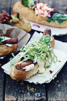 Cabbage chili dog