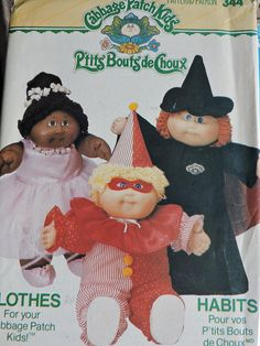 by OnceUponAnHeirloom on Etsy Cabbage Patch Kids Clothes, Cabbage Patch Kids Dolls, Doll Clothes Patterns, Doll Patterns, Vintage Patterns, Halloween Costumes For Kids, Vintage Halloween, Girl Dolls, Ballerina