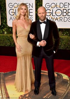 Big reveal: On Sunday the actress confirmed she was engaged to her boyfriend of five years, Jason Statham, at the Golden Globes
