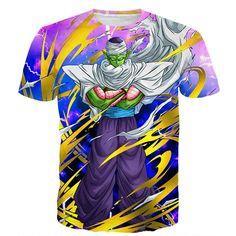 Dragon Ball Angry Piccolo Waiting Fight Aura Yellow Fashion T-Shirt