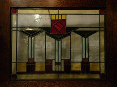Craftsman Rose Stained glass Window by charlesartglass on Etsy, $350.00