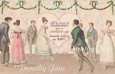 Jane Austen Valentine Card Jane Austen Wedding Quote by lacegrl130