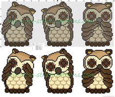 Thun owls i do not see i can not hear i do not talk free cross stitch pattern 149x60
