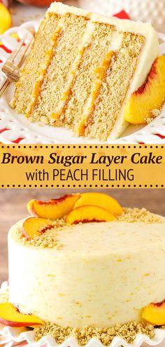 Healthy Cake Recipes, Layer Cake Recipes, Delicious Cake Recipes, Best Cake Recipes, Cupcake Recipes, Yummy Cakes, Dessert Recipes, Birthday Cake Recipes, Cake Filling Recipes