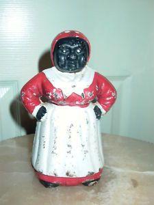 Antique Aunt Jemima Collectibles | Vintage Aunt Jemima Mammy Cast Iron Bank | eBay