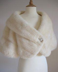 Chic Ivory Fur Bolero