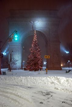 Christmas in Washington Square park, NYC