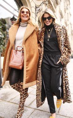 d5875ea625a Caramel and leopard print street style winter coats