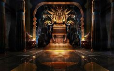 throne fantasy xol anime within xiren game concept kal halls barosh alternate