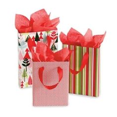 This quick tutorial explains how to make gift bags for any occasion by covering boxes with decorative paper. Punch holes at the sides to insert ribbon for a handle.