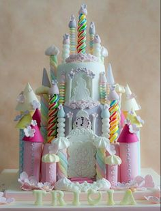 Candy castle birthday cake