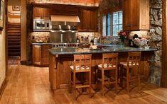 Decoración de una cocina rústica de forma sencilla