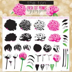 Create beautiful layered bouquets and centerpieces for your papercrafts with our Fresh Cut Peonies stamp set. This set comes with a printed layering guide. - inches - 35 stamps - Made of photopoly The Ton Stamps, Peonies Bouquet, Bouquets, Altenew Cards, Floral Wall Art, Watercolor Cards, Flower Cards, Clear Stamps, Homemade Cards