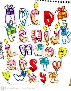 Bullet Journal Dividers, Bullet Journal Lettering Ideas, Journal Fonts, Bullet Journal Writing, Creative Lettering, Cool Lettering, Graffiti Lettering, Hand Lettering Alphabet, Calligraphy Alphabet
