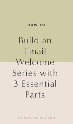 3 Essential Parts of an Email Welcome Series 3 Essential Parts of an Email Welcome Series,Email Marketing When it comes to marketing strategies, it's important to cover all the bases. In my own business,. Email Marketing Design, Email Marketing Campaign, Email Marketing Strategy, E-mail Marketing, Email Design, Business Marketing, Content Marketing, Online Marketing, Facebook Marketing