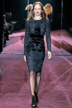 Gucci Velvet Brocade Dress from Winter 2012