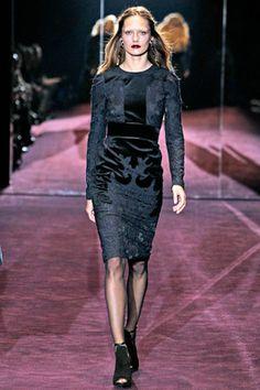 Gucci Velvet Brocade Dress from Winter 2012