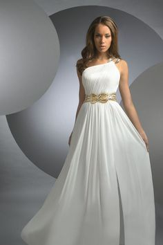 THIS IS THE ONE!!!  I want Grecian style! A Line Chiffon Zipper Up 2012 Collection Evening Dresses  PQ29563P
