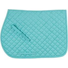 Tiffany blue quilted cotton saddle pad. If I went English, this is the color saddle pad I would buy.