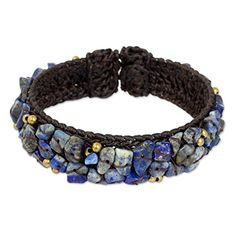 NOVICA Lapis Lazuli Woven Cuff Bracelet 65 Ocean Day * You can find more details by visiting the image link. (This is an affiliate link) Diamond Jewelry, Beaded Jewelry, Lapis Lazuli Jewelry, Woven Bracelets, Jewelry Bracelets, Jewlery, Fair Trade Jewelry, Jewelry Packaging, Bracelet Designs
