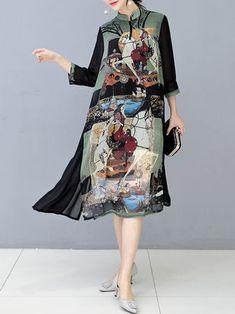 Only US$31.49 , shop O-NEWE Plus Size Vintage Women Floral Printed Dress at Banggood.com. Buy fashion Maxi Dresses online.