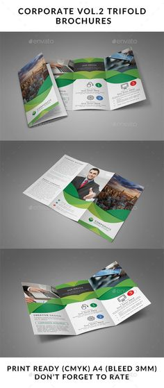 Corporate Trifold Brochure Template PSD. Download here: http://graphicriver.net/item/corporate-vol-2-trifold-brochure/14584766?ref=ksioks
