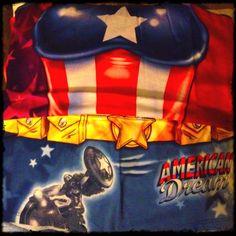 Captain America's got nice boobs! Lol! #theavengersevent #Avengers @avengers