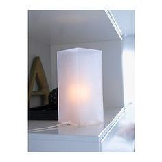 GRÖNÖ Table lamp with LED bulb, frosted glass white - IKEA