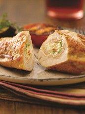 Pechugas de pollo rellenas Tapas, Baked Potato, Potatoes, Baking, Ethnic Recipes, Food, Stuffed Chicken Breasts, Frying Pans, Vegetables