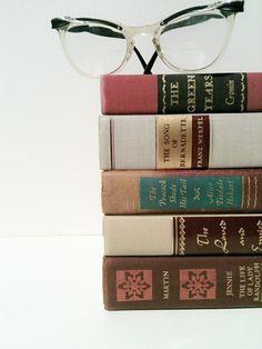 Shabby ChicVintageWeddingGiftBurgundy BooksHouse by beachbabyblues