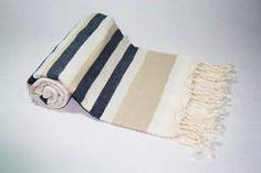 Amazon.com: Pestemal Turkish Towel, 100% Cotton, Beige-White, Navy accent, Beach & Bath Towel, Alina Allure: Home & Kitchen