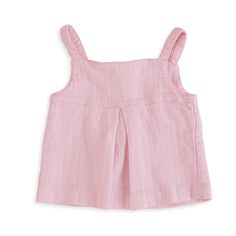 Aden and Anais Lovely Solid Pink Smock Top