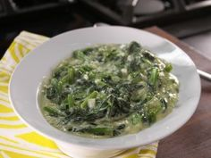 From the Cooking Channel, Bobby Deen's creamed spinach.