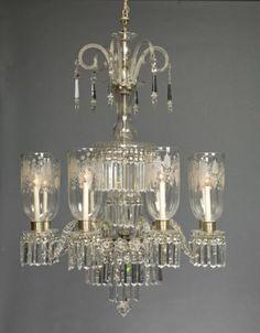 David Skinner Antiques - Pair Anglo-Irish chandeliers